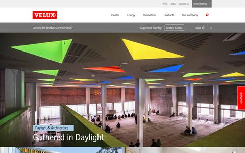 Screenshot of Home Page velux.com - VELUX Group - better living for people. Using daylight and fresh air - captured March 4, 2018