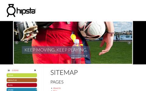 Screenshot of Site Map Page hipsta.com.au - Hipsta ProductsHipsta® - captured Sept. 30, 2014