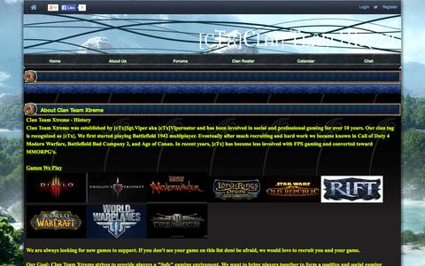 Screenshot of About Page ctxgaming.com - - Index : Custom Sections : [cTx]Clan Team Xtreme - North America - World of Tanks - Clan Hosting - Guild Launch - captured Oct. 2, 2014