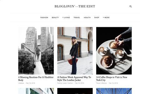 Screenshot of Blog bloglovin.com - Bloglovin'—the Edit - captured Feb. 16, 2016