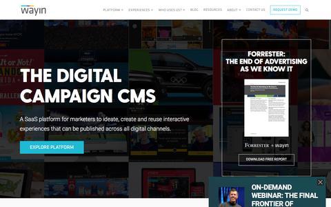 Wayin | Digital Marketing Platform I Campaign Experiences