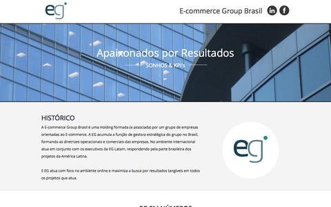 Screenshot of Blog egbr.com.br - EG E-commerce Goup - captured Oct. 1, 2014