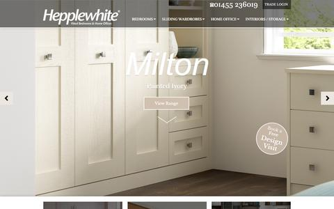 Screenshot of Home Page hepplewhitefittedfurniture.co.uk - Hepplewhite Fitted Bedrooms & Home Offices - captured Dec. 9, 2015