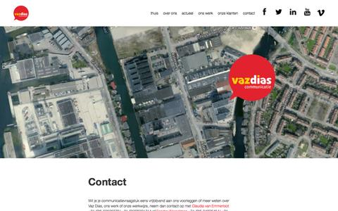 Screenshot of Contact Page vazdias.nl - Contact - captured Feb. 17, 2016