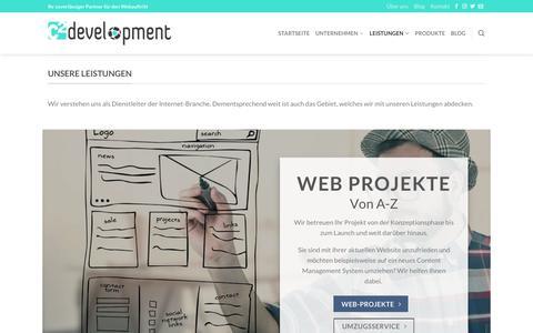 Screenshot of Services Page c2-development.de - Leistungen - c² development - captured Oct. 21, 2018