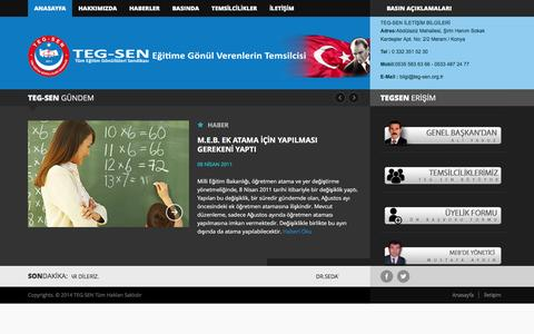 Screenshot of Home Page teg-sen.org.tr - TEG-SEN. Tüm Eğitim Gönüllüleri Sendikası - captured May 24, 2016