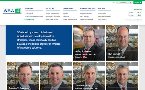 Screenshot of Team Page sbasite.com - Leadership | SBA Communications - captured March 7, 2018