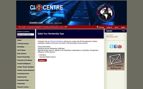 Screenshot of Signup Page site-ym.com - CI CENTRE - captured Jan. 2, 2017