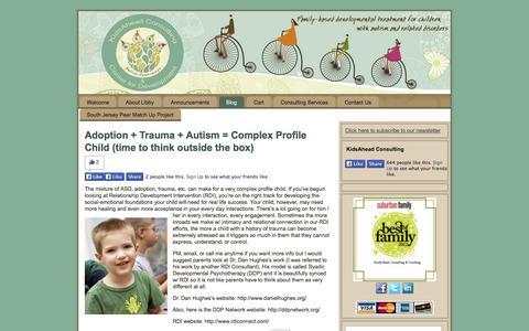 Screenshot of Blog kidsahead.net - Blog | KidsAhead Consulting - captured Oct. 6, 2014