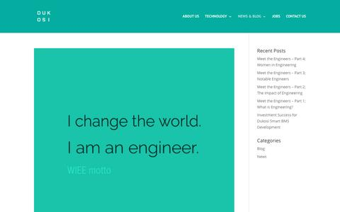 Screenshot of Blog dukosi.com - Blog | Dukosi - captured Jan. 7, 2016