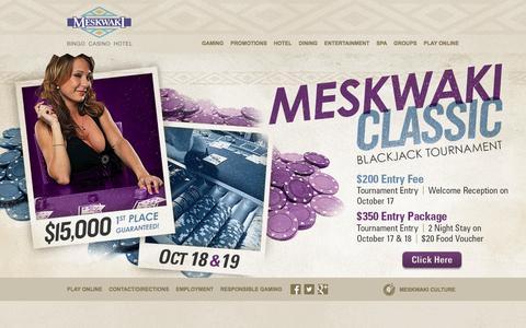 Screenshot of Home Page meskwaki.com - Meskwaki :: Home - captured Oct. 6, 2014