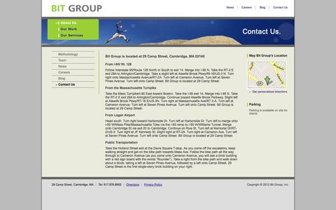 Screenshot of Maps & Directions Page bitgroup.com - Directions - Bit Group - captured Oct. 5, 2014