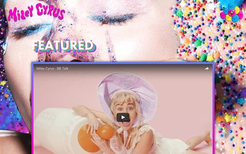 Screenshot of Press Page mileycyrus.com - Miley Cyrus - captured Aug. 28, 2016