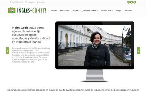 Screenshot of Home Page ingles-go4it.es - Inglés Go4it. Aprende inglés en Inglaterra e Irlanda con nuestros cursos y prácticas en empresas. - captured Oct. 11, 2018