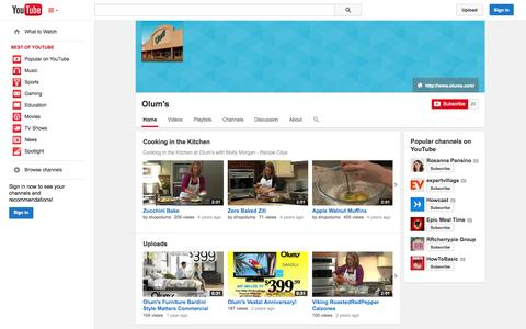 Screenshot of YouTube Page youtube.com - Olum's  - YouTube - captured Oct. 26, 2014