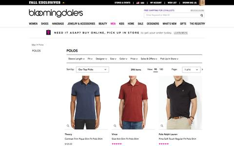Men's Designer Polo Shirts: Short & Long Sleeves - Bloomingdale's