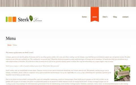 Screenshot of Menu Page sterk-leven.nl - Menu  |  Sterk Leven - captured Sept. 30, 2014