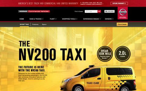 Screenshot of nissancommercialvehicles.com - Nissan NV200 Taxi Cab | Nissan Commercial Vehicles - captured July 3, 2017