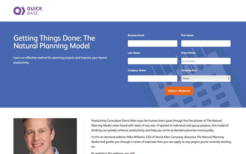 Getting Things Done: Webinar Registration