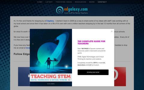 Screenshot of Contact Page edgalaxy.com - Contact & Advertise on Edgalaxy.com — Edgalaxy: Cool Stuff for Nerdy teachers - captured Dec. 12, 2018