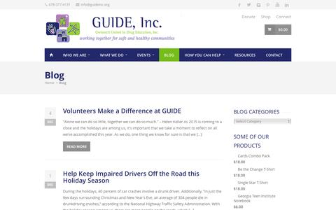 Screenshot of Blog guideinc.org - Blog | GUIDE, Inc. - captured Dec. 7, 2015