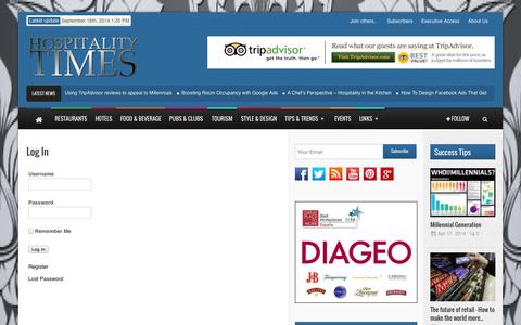 Screenshot of Login Page hospitalitytimes.ie - Hospitality Times   – Log In - captured Sept. 30, 2014