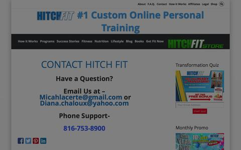 Screenshot of Contact Page hitchfit.com - Contact Hitch Fit - captured Jan. 18, 2016