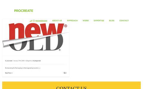 Screenshot of Blog procreatebranding.com - BLOG - Procreate - captured Jan. 17, 2020