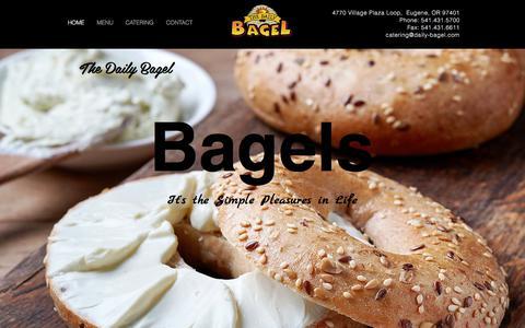 Screenshot of Home Page daily-bagel.com - Bagels | Oregon | The Daily Bagel - captured Nov. 9, 2017