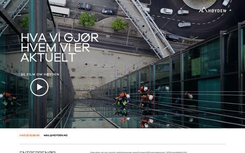 Screenshot of Home Page hoyden.no - HØYDEN - Entreprenør for sikkert arbeid i høyden - captured Oct. 7, 2015