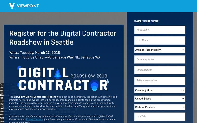 Register for the Digital Contractor Roadshow in Seattle