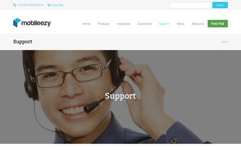 Screenshot of Support Page mobileezy.com - Support | mobileezy.com - captured Nov. 21, 2016