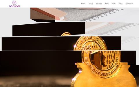 Screenshot of Home Page admarkgulf.com - ad.mark | An Advertising & Branding Agency | Bahrain - captured Jan. 17, 2016