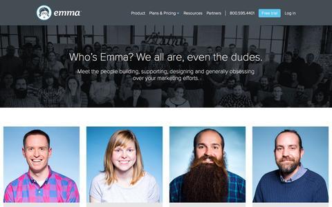 Screenshot of Team Page myemma.com - Email Marketing Services - Email Marketing Software - Email Marketing | Emma, Inc. - captured Dec. 3, 2015