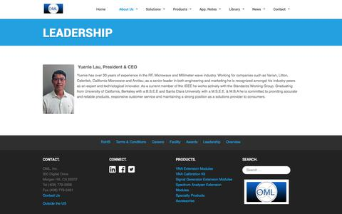 Screenshot of Team Page omlinc.com - OML Leadership - captured June 18, 2017