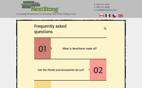 Screenshot of FAQ Page nextstone.com - Faux Stone Siding Panels | FAQ - captured Aug. 13, 2016