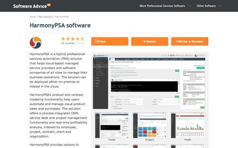 HarmonyPSA Software - 2018 Reviews, Pricing & Demo