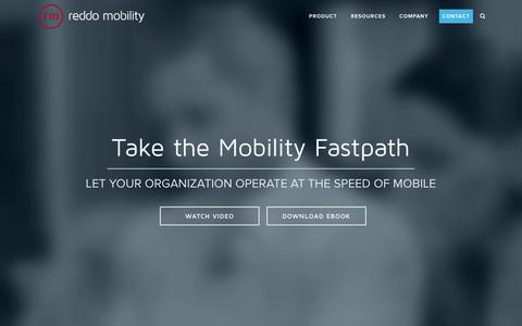 Screenshot of Home Page reddomobility.com - Enterprise Application Mobility - captured March 2, 2016