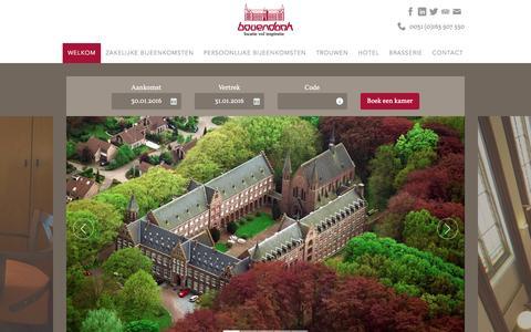 Screenshot of Home Page bovendonk.nl - Unieke locatie, oneindig veel mogelijkheden - captured Jan. 30, 2016
