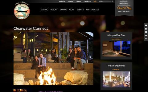 Screenshot of Blog clearwatercasino.com - Clearwater Connect | Suquamish Clearwater Casino Resort - captured Oct. 26, 2014
