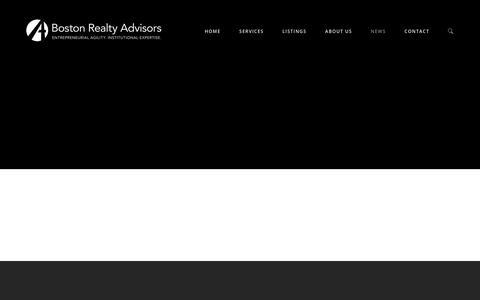 Screenshot of Press Page bradvisors.com - News | Boston Realty Advisors - captured Nov. 13, 2018