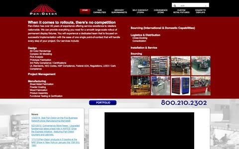 Screenshot of Home Page panoston.com - Checkout Counters | Grocery Displays | Custom Design - captured Sept. 27, 2014