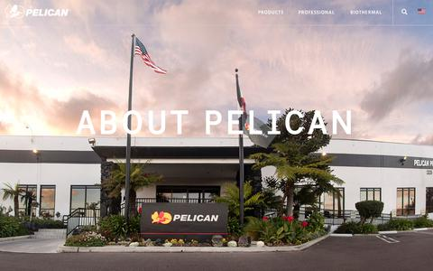 Screenshot of About Page pelican.com - About Pelican Products, Inc. and corporate news | Pelican - captured Sept. 24, 2018