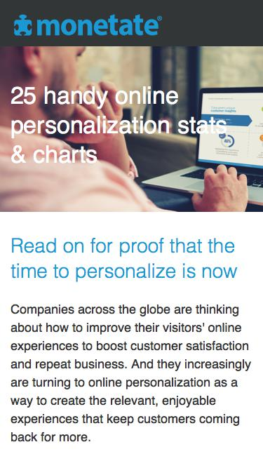 25 handy online personalization stats & charts