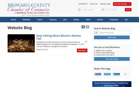 Screenshot of Blog browardbiz.com - Broward County Chamber of Commerce Blog Articles - Find Broward County Chamber Of Commerce Blog Articles - captured Oct. 6, 2018