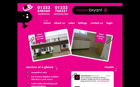 Screenshot of Home Page masonbryant.co.uk - masonbryant - Sales and Lettings - captured Sept. 30, 2014