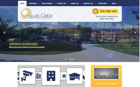 Screenshot of Home Page visual-data.com - Visual Data - captured Oct. 10, 2014