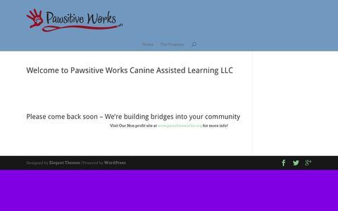 Screenshot of Home Page pawsitiveworks.com - Pawsitive Works   PawsitiveWorks.com - captured June 17, 2015