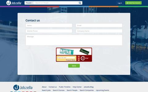 Screenshot of Contact Page jobzella.com - Contact us - Jobzella - captured July 4, 2016