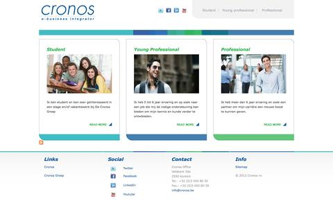 Screenshot of Home Page Site Map Page jobsatcronos.be - Jobs@cronos - captured Dec. 26, 2016